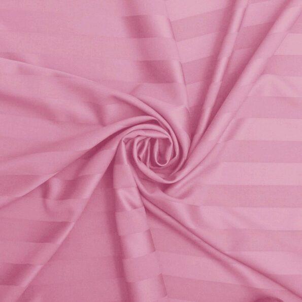 Baby Pink Satin Pure Cotton King Size Bedsheet Closeup