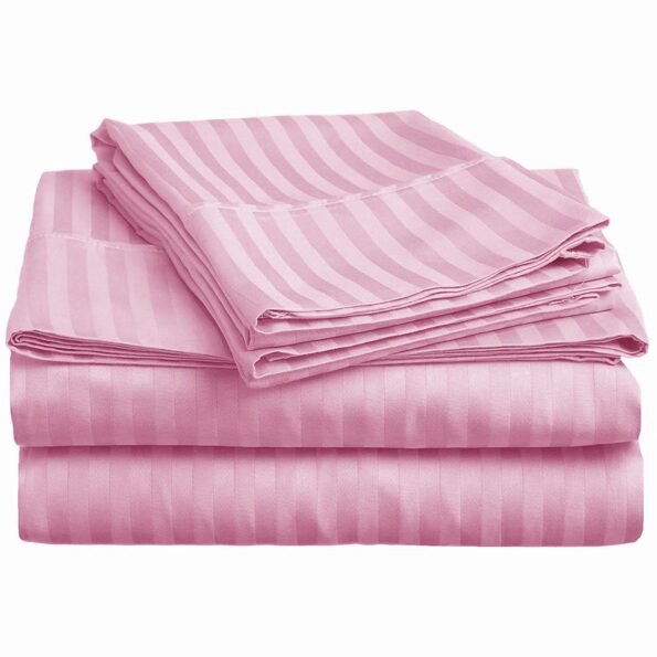 Baby Pink Satin Pure Cotton King Size Bedsheet Design