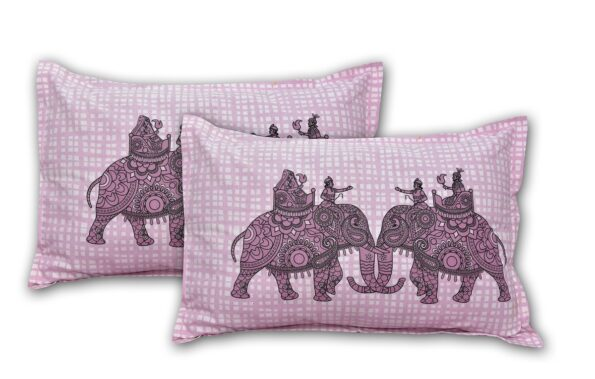 Alexa Elephant Pattern King Size Double Bedsheet Pillow Cover Set