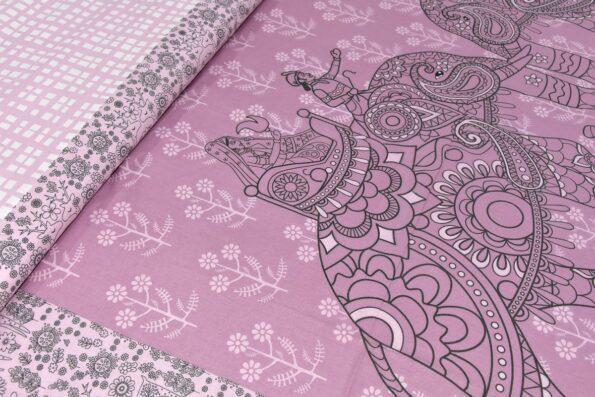 Alexa Elephant Pattern King Size Double Bedsheet close up