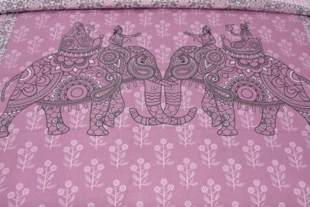 Alexa Elephant Pattern King Size Double Bedsheet closeup