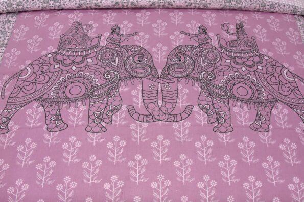 Alexa Elephant Pattern King Size Double Bedsheet closeup