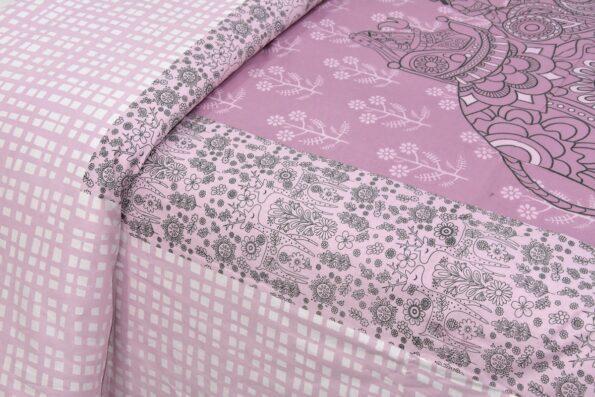 Alexa Elephant Pattern King Size Double Bedsheet lookout