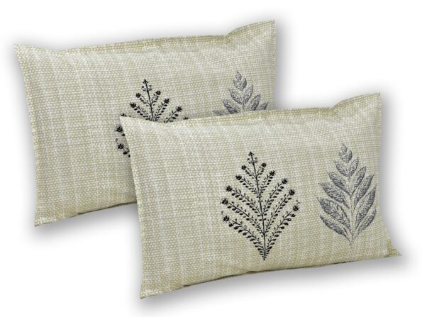 Alexa Leaf Pattern Double Bedsheet Pillow Cover Set