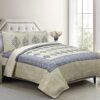 Alexa Leaf Pattern Double Bedsheet with 2 Pillow Cover Set