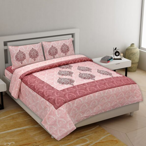 Alexa Paisley King Size Double Bedsheet with 2 Pillow Cover Set