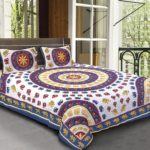 Animal Print Blue color Jaipuri Bedsheets