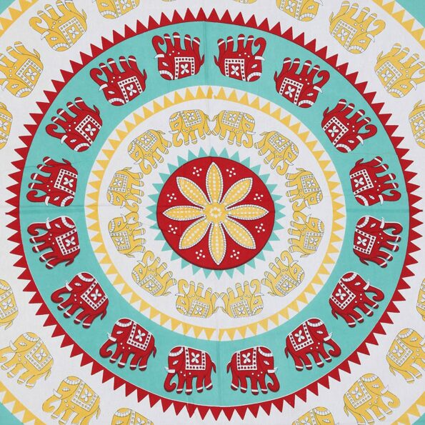Animal Print Green circles Jaipuri Bedsheets.jpg