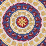 Animal Print blue circle Jaipuri Bedsheets