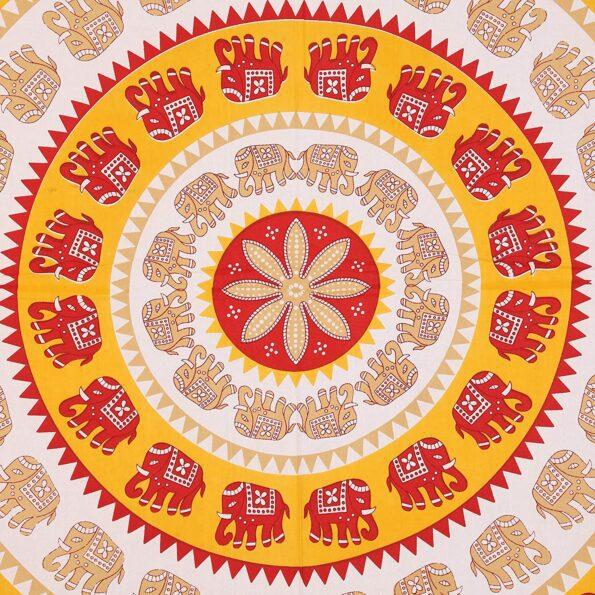Animal Print yellow circle Jaipuri Bedsheets.jpg