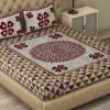 Barmeri Print Beautiful Design Double Bed Sheet