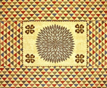 Barmeri Print Beautiful Design in Brown Double Bed Sheet Closeup