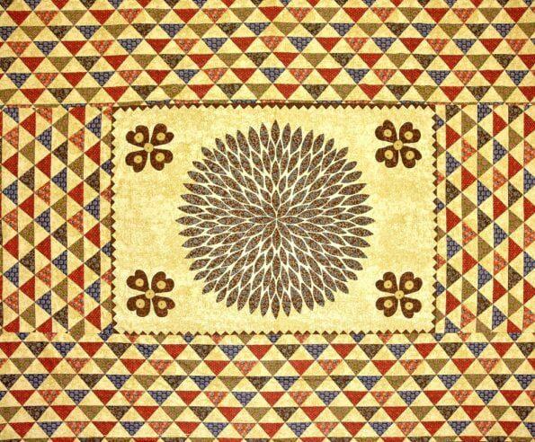 Barmeri Print Beautiful Design in Brown Double Bed Sheet Closeup
