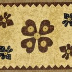 Barmeri Print Beautiful Design in Brown Double Bed Sheet Pillow Design