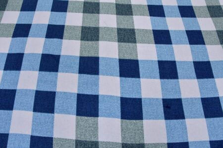 Beautiful Blue Print Check Pattern Cotton Double Bed Sheet lookout