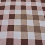 Beautiful Brown Print Check Pattern Cotton Double Bed Sheet lookout