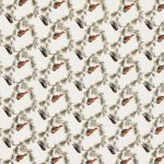 Beautiful Indian Brown Bird Pattern Cotton Double Bed Sheet close up
