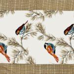 Beautiful Indian Brown Bird Pattern Cotton Double Bed Sheet closeup