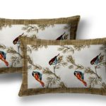 Beautiful Indian Brown Bird Pattern Cotton Double Bed Sheet lookout