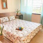 Beautiful Indian Brown Bird Pattern King Size Bed Sheet