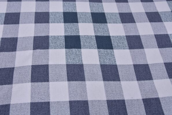 Beautiful Metal Grey Print Check Pattern Cotton Double Bed Sheet lookout
