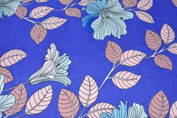 Beauty Floral Poly Cotton Double Bedsheet Closeup