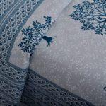 Blue Print Multi Tree Print Super Fine Cotton King Size Double Bed Sheet