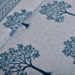 Blue Print Multi Tree Print Super Fine Cotton King Size Double Bed Sheet Lookout