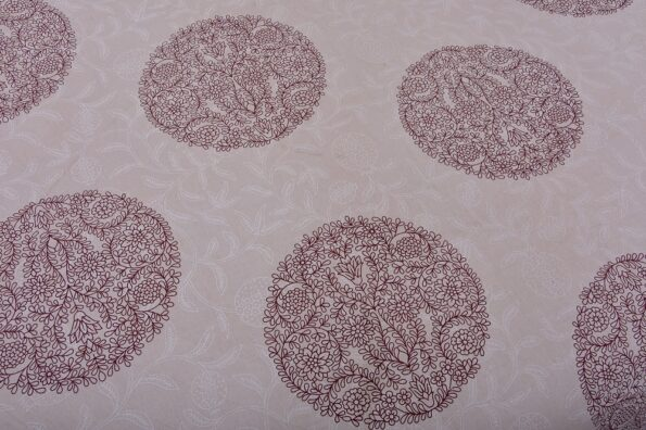 Erika Light Pink Handicraft Print Super Fine Cotton Double Bed Sheet Lookout