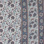 Floral Print Blue colour closeup