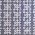 Floral Print Design Blue Cotton