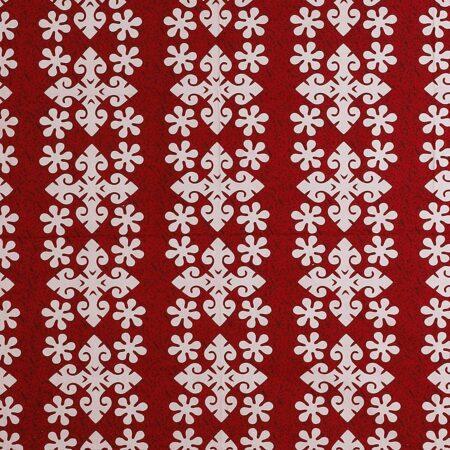 Floral Print Design Red Cotton .jpg