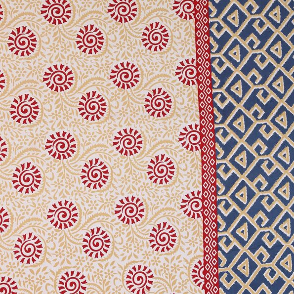 Floral Print Multicolour Double Bedsheets