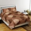 Gentle Leaf Premium Poly Cotton Double Bedsheet with 2 Pillow Cover Set