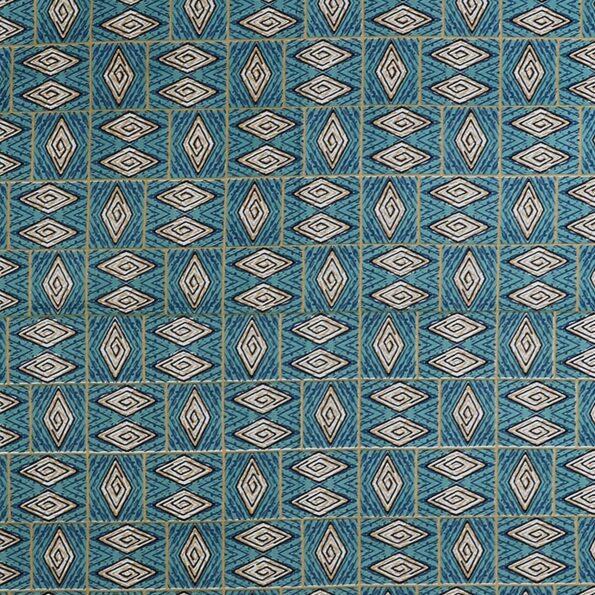 Geometric Green colour Cotton Double Bedsheet Closeup