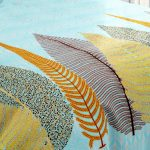 Hawaii Twill Beautiful Design King Size Double Bedsheet Closeup