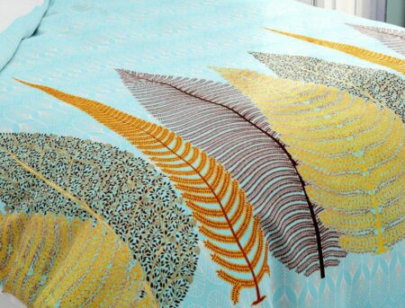 Hawaii Twill Beautiful Design King Size Double Bedsheet Closeup