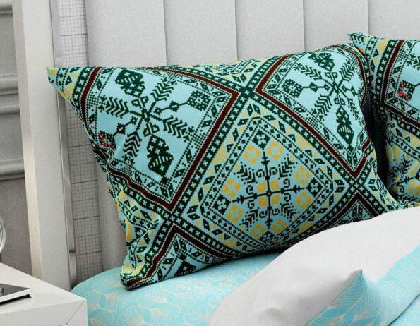 Hawaii Twill Beautiful Design King Size Double Bedsheet Pillow Cover Set