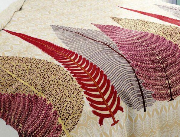 Hawaii Twill Big Leaf King Size Double Bedsheet Closeup