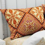 Hawaii Twill Big Leaf King Size Double Bedsheet Pillow Cover Set