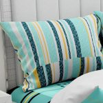 Hawaii Twill Soft Green Checks Deisgn Super Fine Cotton Double Bed Sheet Pillow
