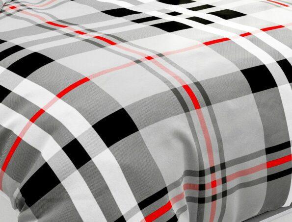 Hawaii Twill Soft Grey Checks Deisgn Super Fine Cotton Double Bed Sheet Closeup