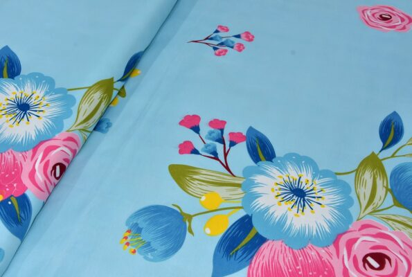 Heaven Bliss Premium Poly Cotton Double Bedsheet Close up