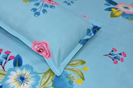Heaven Bliss Premium Poly Cotton Double Bedsheet Closeup