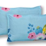 Heaven Bliss Premium Poly Cotton Double Bedsheet Pillow Cover Set