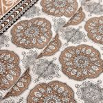Kora Light Brown Flowery with Circle Design Super Fine Cotton Bed Sheet Lookout