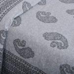Light Blue Base With Kadi Print Blue Rajasthani Buta Hand Block Print Super Fine Cotton Double Bed Sheet Closeup