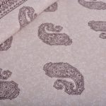 Light Pink Base With Kadi Print Red Rajasthani Buta Hand Block Print Super Fine Cotton Double Bed Sheet Close up