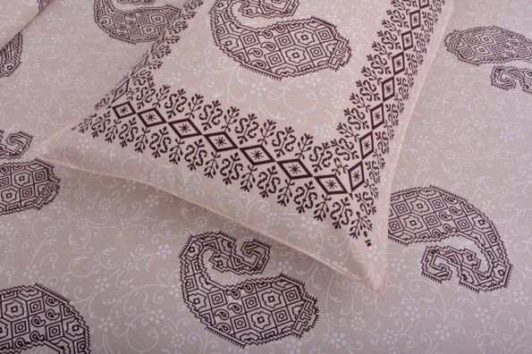 Light Pink Base With Kadi Print Red Rajasthani Buta Hand Block Print Super Fine Cotton Double Bed Sheet Closeup