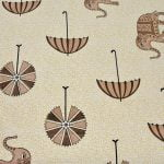 Molly Beautiful Elephant and Umbrella Print Double Bed Sheet Close up